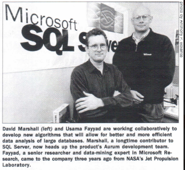 Microsoft Research, SQL Server Team Mine For Golden Data