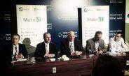 "Dr. Usama Fayyad making an announcement abt ""MakeIT"" the tech mentorship network"